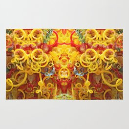 Oriental Style Swirls and Curls Rug