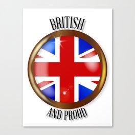 British Proud Flag Button Canvas Print