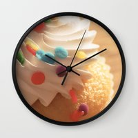 cupcake Wall Clocks featuring cupcake by Susigrafie