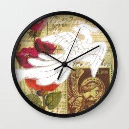 Vatican Stamp Wall Clock