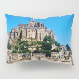 Castle Fortress- Le Mont Saint Michel Pillow Sham