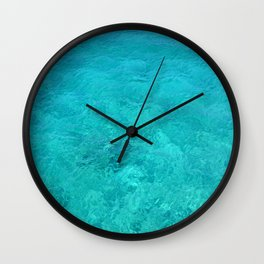 Clear Turquoise Water Wall Clock