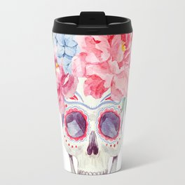 Watercolor mexican holidays of the dead Travel Mug