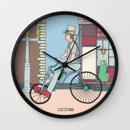 Steampunk Stovepipe Hat Biker Wall Clock