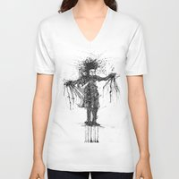 edward scissorhands V-neck T-shirts featuring Edward Scissorhands by V.Live