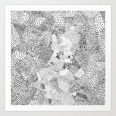 Dot Matrix BW | Abstract Geometric Art Print