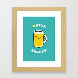 RUTTA SALUTE Framed Art Print
