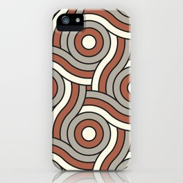 Circle Swirl Pattern Ever Classic Gray 32-24 Red River 4-21 and Dover White 33-6 iPhone Case