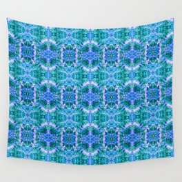 Psychedelic Kaleidoscope Sea Foam Pattern Wall Tapestry