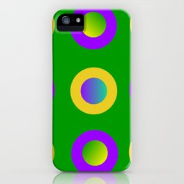 Mardi Gras Polka Dots iPhone Case