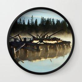 Mist on Gooseneck Trestle Wall Clock