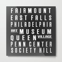 Philadelphia City Subway Sign Metal Print