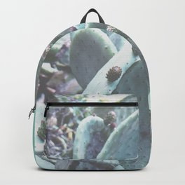 Green Flowering Cacti Backpack