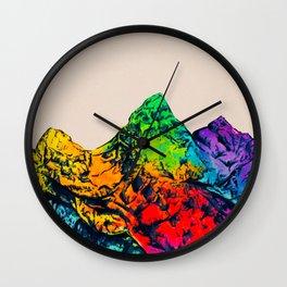 Rainbow Mountains Wall Clock
