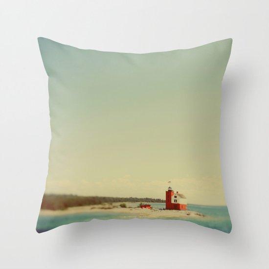 Round Island Throw Pillow