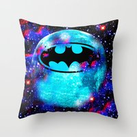 bat Throw Pillows featuring Bat by Saundra Myles