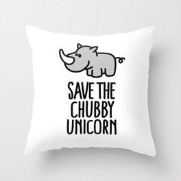 Save the chubby unicorn Throw Pillow