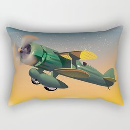 Learn To Fly, vintage flight travel poster Rectangular Pillow
