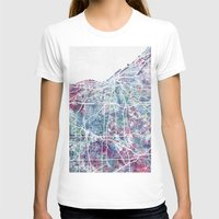 cleveland T-shirts featuring Cleveland map by MapMapMaps.Watercolors