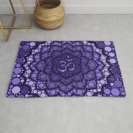 OM Symbol - Dot Art - purple palette Rug