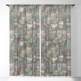 Plants Sheer Curtain