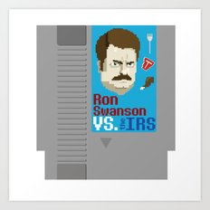 Ron Swanson VS. the IRS Art Print