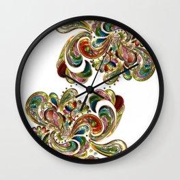 Liquid Bling Paisley Tattoo Wall Clock