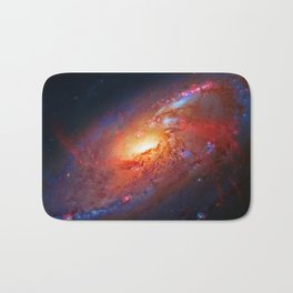 Spiral Galaxy in the Hunting Dogs constellation Bath Mat