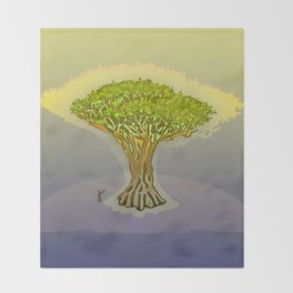 Drago / The Sacred Tree Throw Blanket