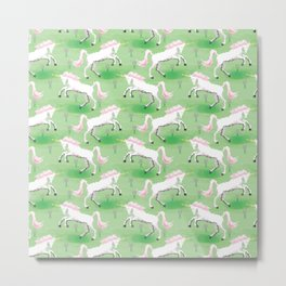 unicorns garden Metal Print