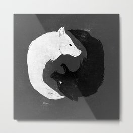 Feed the Wolves Metal Print