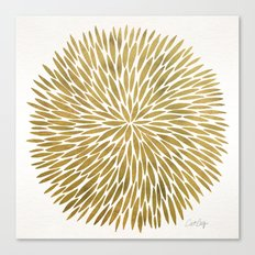 Golden Burst Canvas Print