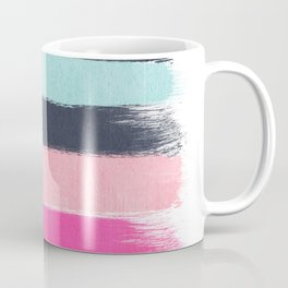Miri - abstract stripes painterly brushstrokes minimal office dorm or college girly art decor Coffee Mug