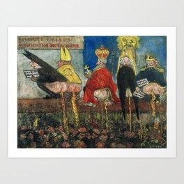 Doctrinal Nourishment (World Powers, Religion, Big Business) portrait painting by James Ensor Art Print