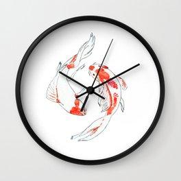 Koi Fish Red Wall Clock