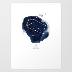 Zodiac Star Constellation - Gemini Art Print