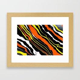Line of Fire - Diagonal Framed Art Print