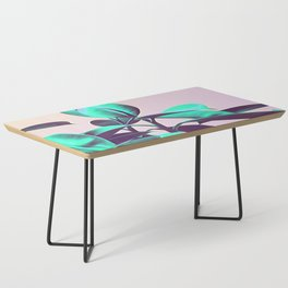 Iridescent Green Leaves Coffee Table