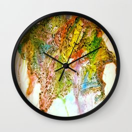 Crazy Ink Doodle Watercolor Monster Wall Clock