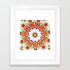 White Flower in Dimension Framed Art Print
