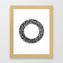 Kanji Calligraphy Art : circle Framed Art Print