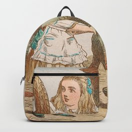 Scene from Alice in Wonderland Backpack