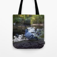 pigeon Tote Bags featuring Pigeon by Elliott Kemp Photography