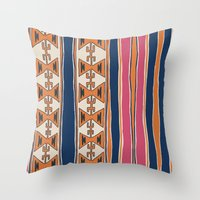 cleveland Throw Pillows featuring Cleveland 3 by Little Brave Heart Shop
