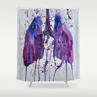 lungs Shower Curtains featuring Lungs II by Kiera Wilson