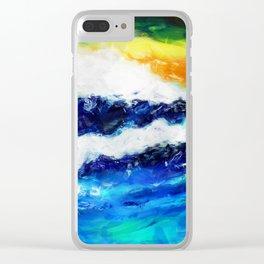 Rough Sea Clear iPhone Case