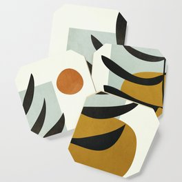 Soft Abstract Large Leaf Coaster