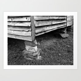 Vintage Black And White Structure Art Print