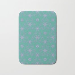 Green garden Swirl Repeating Pattern Bath Mat