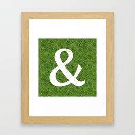 ampersand & and initial letter alphabet on the grass Framed Art Print